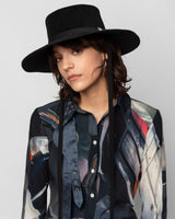 Longing Gaucho Hat in Black - CLYDE