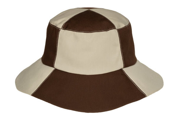2 Tone Bucket Hat in Stone and Brown - CLYDE