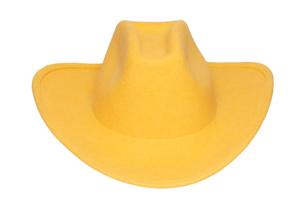 Cowboy Hat in Bright Yellow Wool - CLYDE