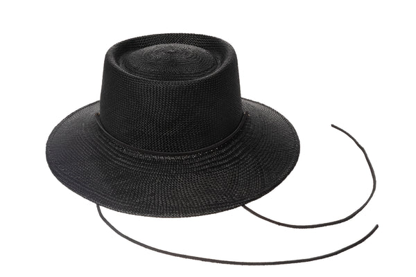Telescope Hat in Black w. Drawstring