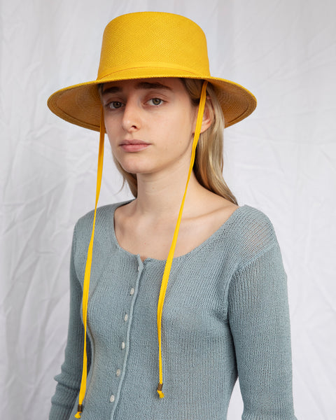 Telescope Hat in Marigold w. Drawstring - CLYDE