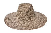Pinch Panama Hat in Beige and Tan Mix - CLYDE
