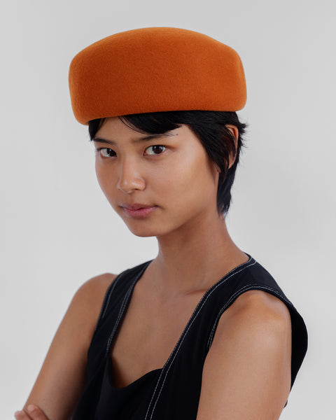 Jeanie Hat in Rust Wool - CLYDE