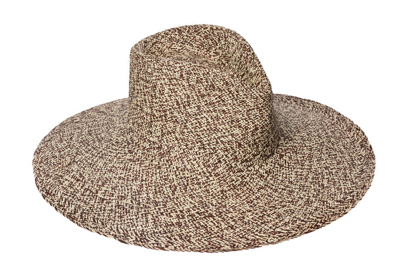 Pinch Panama Hat in Beige and Tan Mix