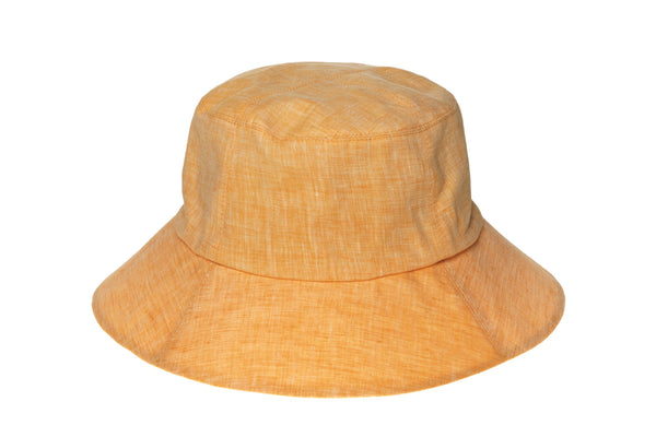 Classic Bucket Hat in Marigold / White Melange - CLYDE