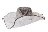 Wide Brim Pinch Hat w. Pin in Grey & White ombre - CLYDE