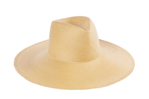 Pinch Panama Hat in Camel Glazed Toyo