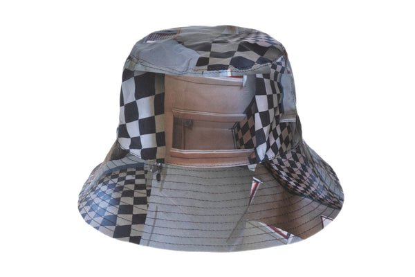 Ebi Bucket Hat in Maya Beaudry Check Print - CLYDE