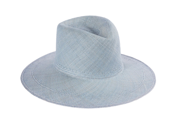 Pinch Panama Hat in Denim Blue