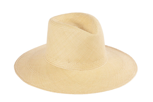 Pinch Panama Hat in Ecru