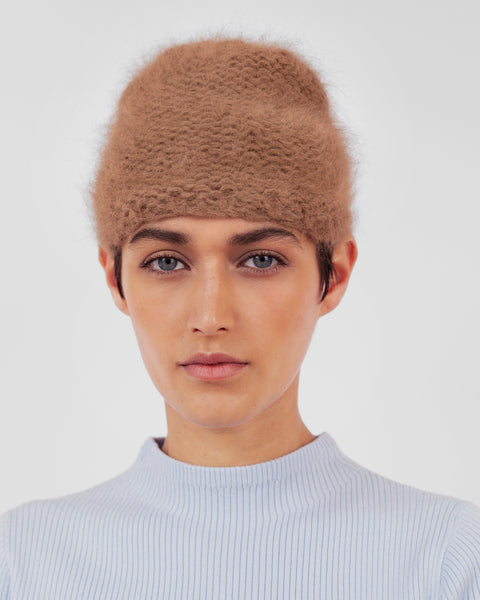 Mohair Hat in Lynx - CLYDE