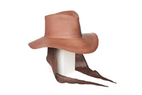 Pinch Panama Hat in Mocha w. Neck Shade - CLYDE