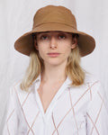 Lambskin Bucket Hat in Coconut - CLYDE