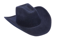 Cowboy Hat in Navy Wool - CLYDE