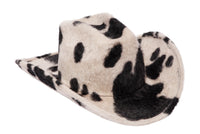 Cowboy Hat in Cow Long Hair Angora - CLYDE