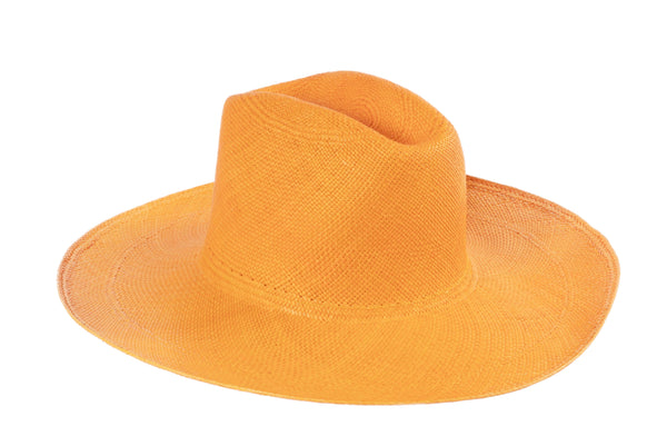 Cowboy Hat in Orange Panama Straw - CLYDE