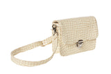 Delta Waist Bag in Cream Croc