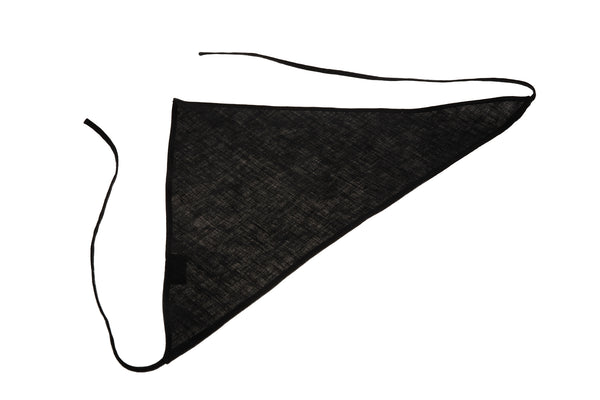 Tie Handkerchief Scarf in Black - CLYDE
