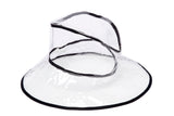 Rain Hat in Clear w. Piping - CLYDE