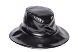 Rain Hat in Black Patent - CLYDE