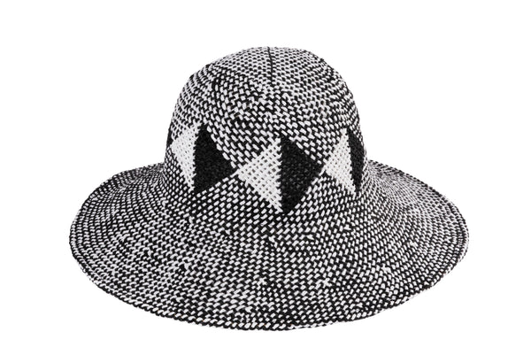 Koh Hat in Geometric Black and White