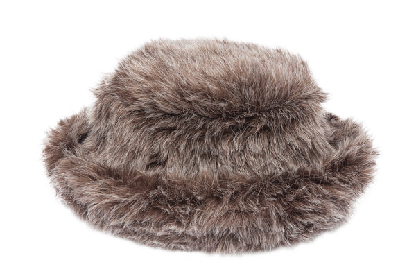 Fur Bucket Hat in Cocoa - CLYDE