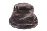 Fur Bucket Hat in Espresso Mink - CLYDE