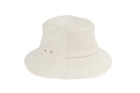 Lambskin Bucket Hat in Off White - CLYDE