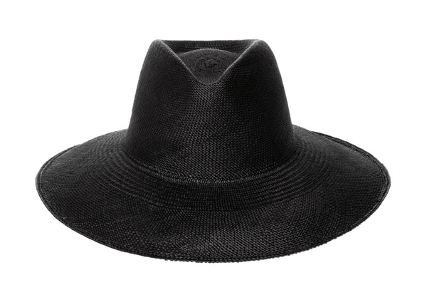 Caro Hat in Black Panama Straw - CLYDE