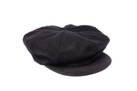 Kingston Hat in Black Wool Tweed - CLYDE