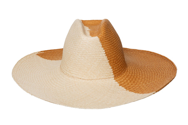 2 Tone Cowboy Hat in Natural / Ochre - CLYDE
