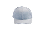 Microsuede Ballcap in Powder Blue - CLYDE