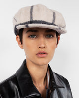 Kingston Hat in Cream Plaid - CLYDE