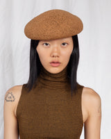 Acorn Beret in Ochre Twisted Toyo - CLYDE