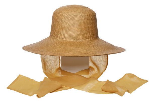Pearl Hat w. Neck Scarf in Khaki - CLYDE