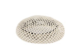 Acorn Beret in Matte Grey Open Hole Mesh - CLYDE