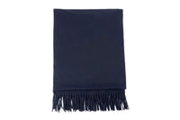 Albion Scarf in Navy Merino Wool - CLYDE