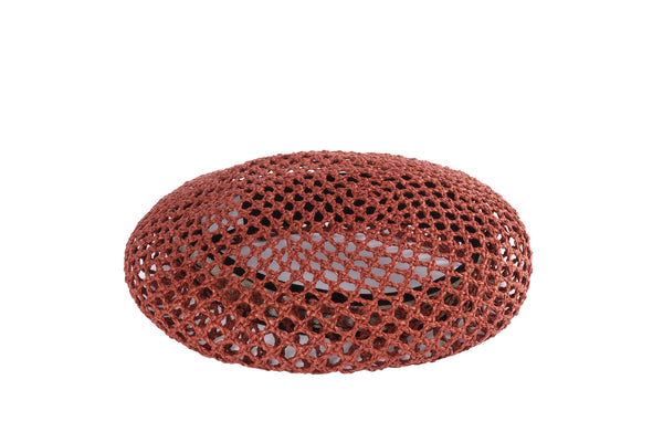 Acorn Beret in Sienna Open Hole Mesh - CLYDE