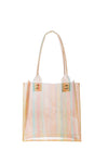 Harmony Tote in Silk Chiffon Orange Vinyl - CLYDE