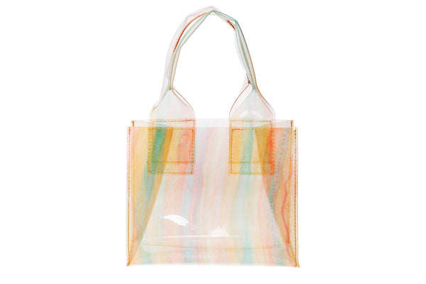 Snack Bag in Silk Chiffon Orange Vinyl - CLYDE