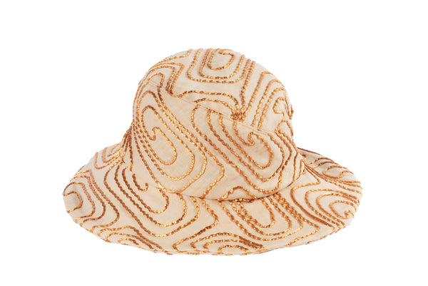 Ocho Hat in Natural Linen w. Copper Cord - CLYDE