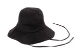 Fisherman Hat in Black Linen - CLYDE