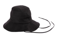 Fisherman Hat in Black Linen