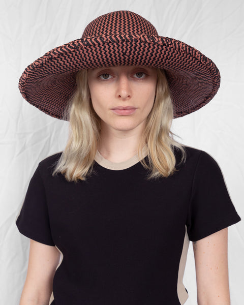 Koh Hat in Rust and Black ZigZag
