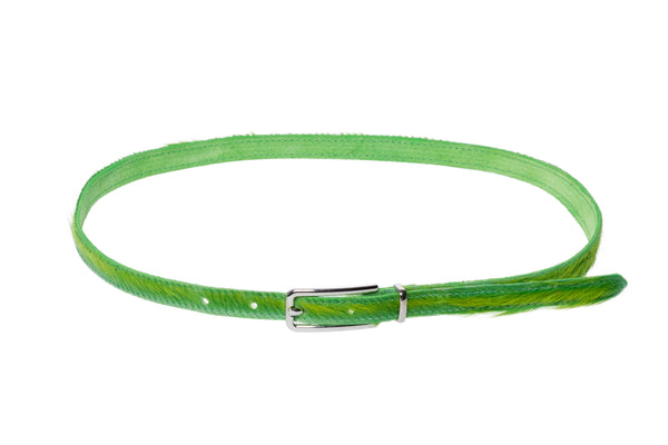 Lea Belt in Acid Green Ponyhair - CLYDE