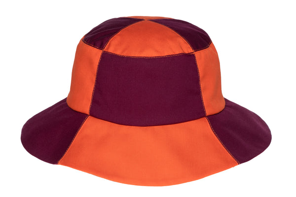 2 Tone Bucket Hat in Aperol and Plum - CLYDE