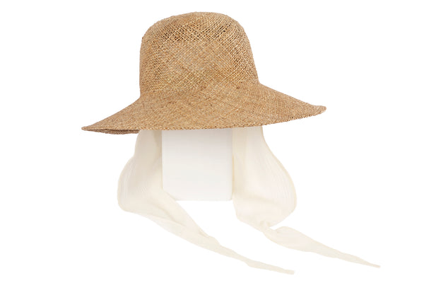 Koh Hat w. Neck Shade in Seagrass Straw - CLYDE