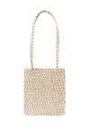 New Rectangle Bag in Cream Croc