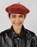 Rohmer Beret in Brick Wool - CLYDE