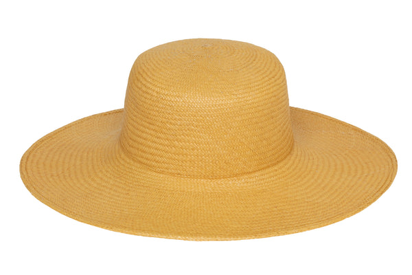 Pearl Hat in Apricot Panama Straw - CLYDE